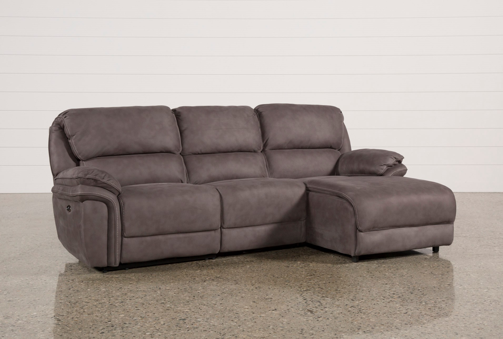 Norfolk Grey 3 Piece Sectional W Raf Chaise Qty 1 Has Been Successfully Added To Your Cart
