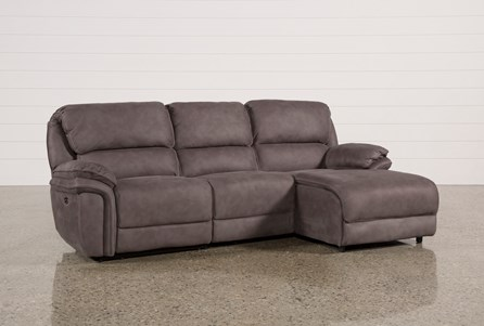 Norfolk Grey 3 Piece Sectional W/Raf Chaise