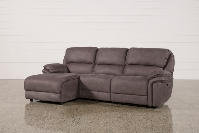 Norfolk Grey 3 Piece Sectional W/Laf Chaise - 360