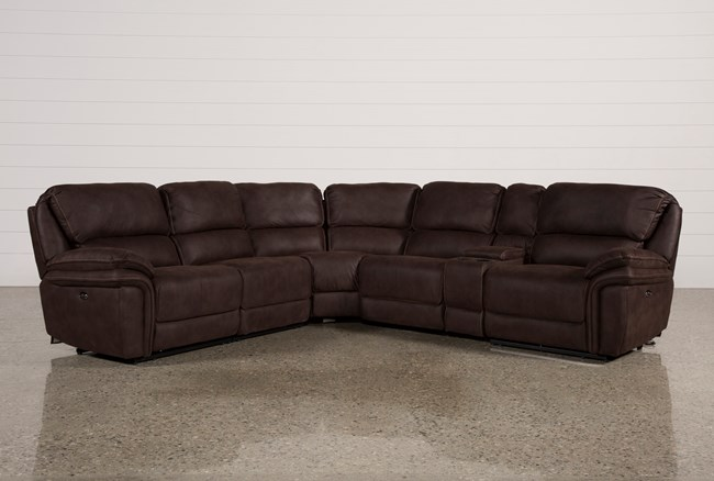 Norfolk Chocolate 6 Piece Sectional - 360