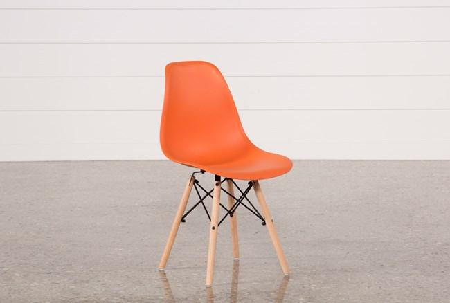 Cole Orange Side Chair - 360
