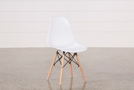 Cole White Side Chair