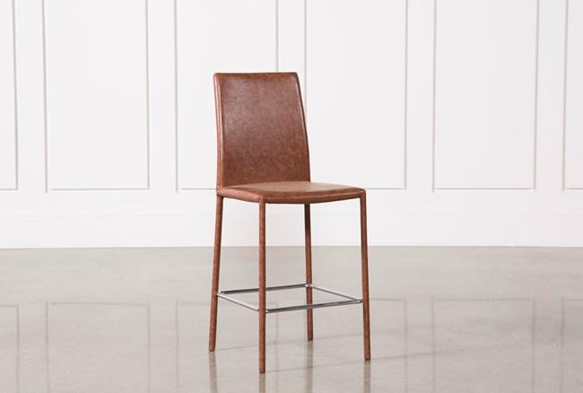 Hayden Cognac 26 Inch Counterstool - 360