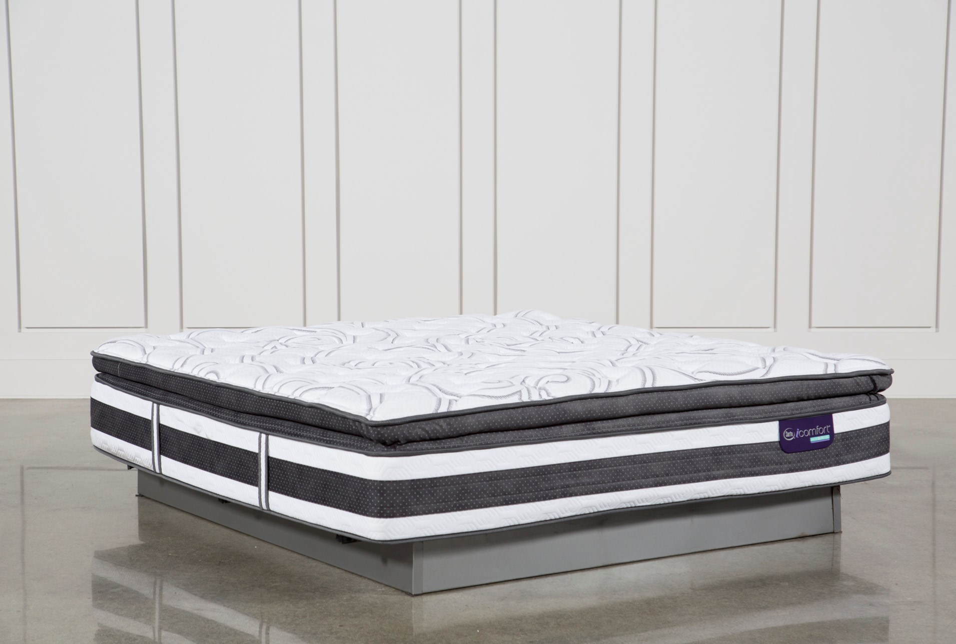 full top bed spring cover costco novaform serta king mattress of pillow luxury twin posturepedic