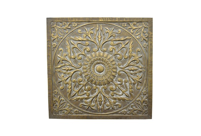 Gold Square Medalion Wall Art - 360
