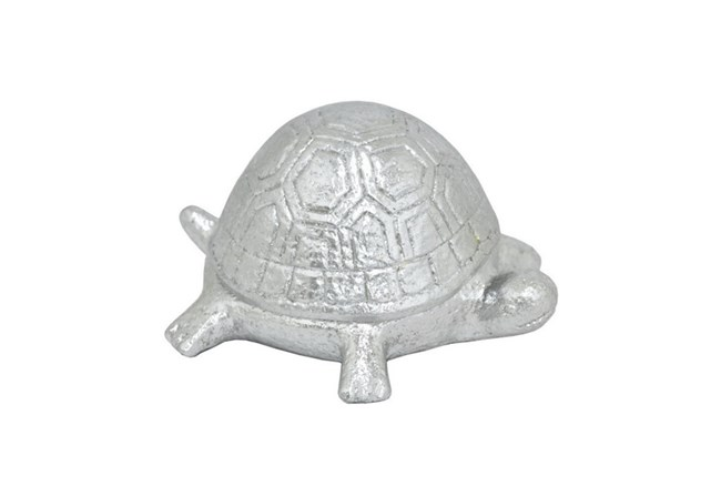Silver Resin Turtle Box - 360
