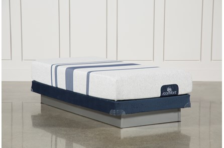 Blue 100 Twin Extra Long Mattress W/Low Profile Foundation