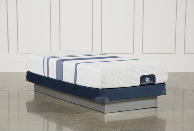 Blue 100 Twin Extra Long Mattress W/Low Profile Foundation - 360