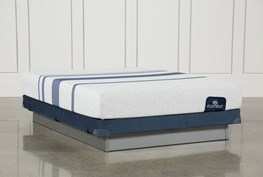 Blue 100 Queen Mattress W/Low Profile Foundation