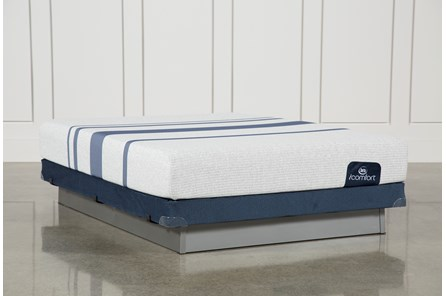 Blue 100 Queen Mattress W/Low Profile Foundation - Main