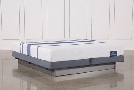 Blue 100 Eastern King Mattress W/Low Profile Foundation