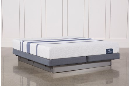 Blue 100 Eastern King Mattress W/Low Profile Foundation - Main