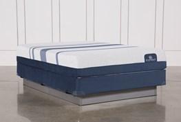 Blue 300 Queen Mattress W/Foundation