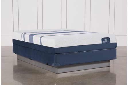 Blue 300 Queen Mattress W/Foundation - Main