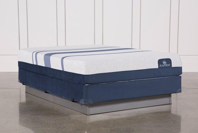 Blue 300 Queen Mattress W/Foundation - 360
