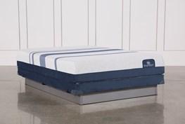 Blue 300 Queen Mattress W/Low Profile Foundation
