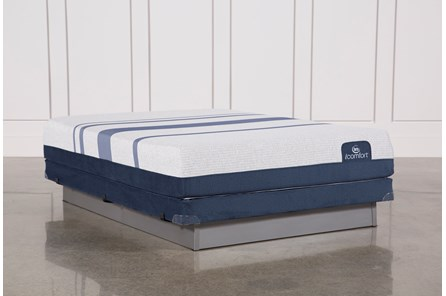 Blue 300 Queen Mattress W/Low Profile Foundation - Main