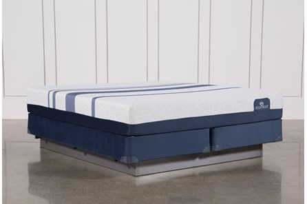 Blue 300 Eastern King Mattress W/Foundation - Main