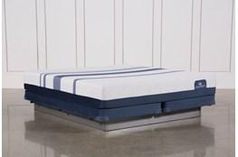 Blue 300 Eastern King Mattress W/Low Profile Foundation