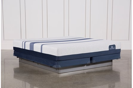 Blue 300 Eastern King Mattress W/Low Profile Foundation - Main