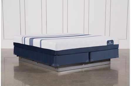 Blue 300 California King Mattress W/Foundation - Main