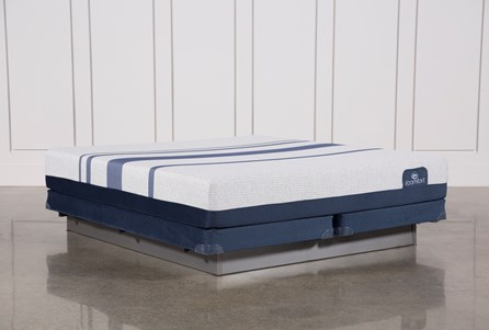Blue 300 California King Mattress W/Low Profile Foundation