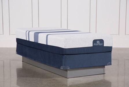 Blue 500 Twin Extra Long Mattress W/Foundation
