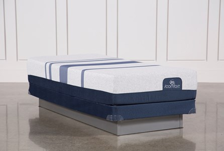 Blue 500 Twin Extra Long Mattress W/Low Profile Foundation