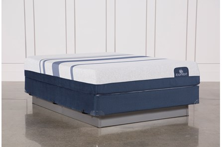 Blue 500 Queen Mattress W/Foundation - Main
