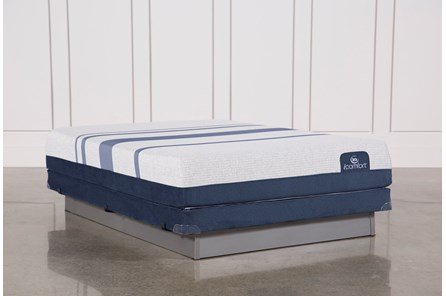 Blue 500 Queen Mattress W/Low Profile Foundation - Main