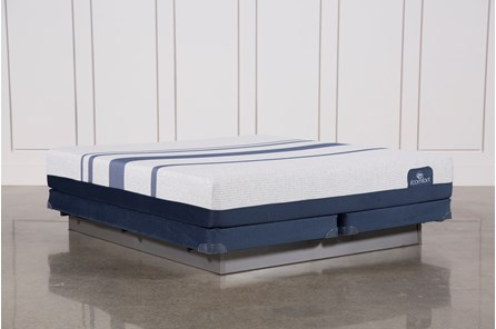 Blue 500 Eastern King Mattress W/Low Profile Foundation - Main