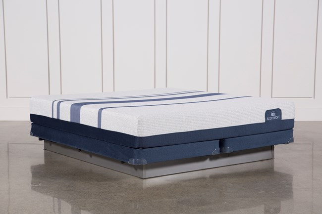 Blue 500 Eastern King Mattress W/Low Profile Foundation - 360