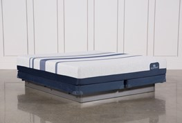 Blue 500 California King Mattress W/Low Profile Foundation