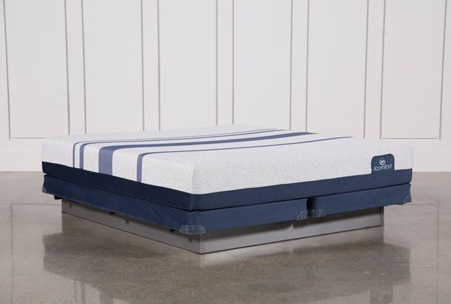 Blue 500 California King Mattress W/Low Profile Foundation - 360