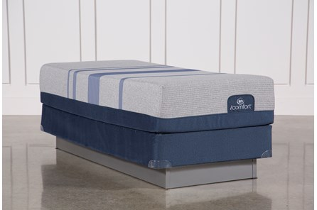 Blue Max 1000 Plush Twin Extra Long Mattress W/Foundation - Main