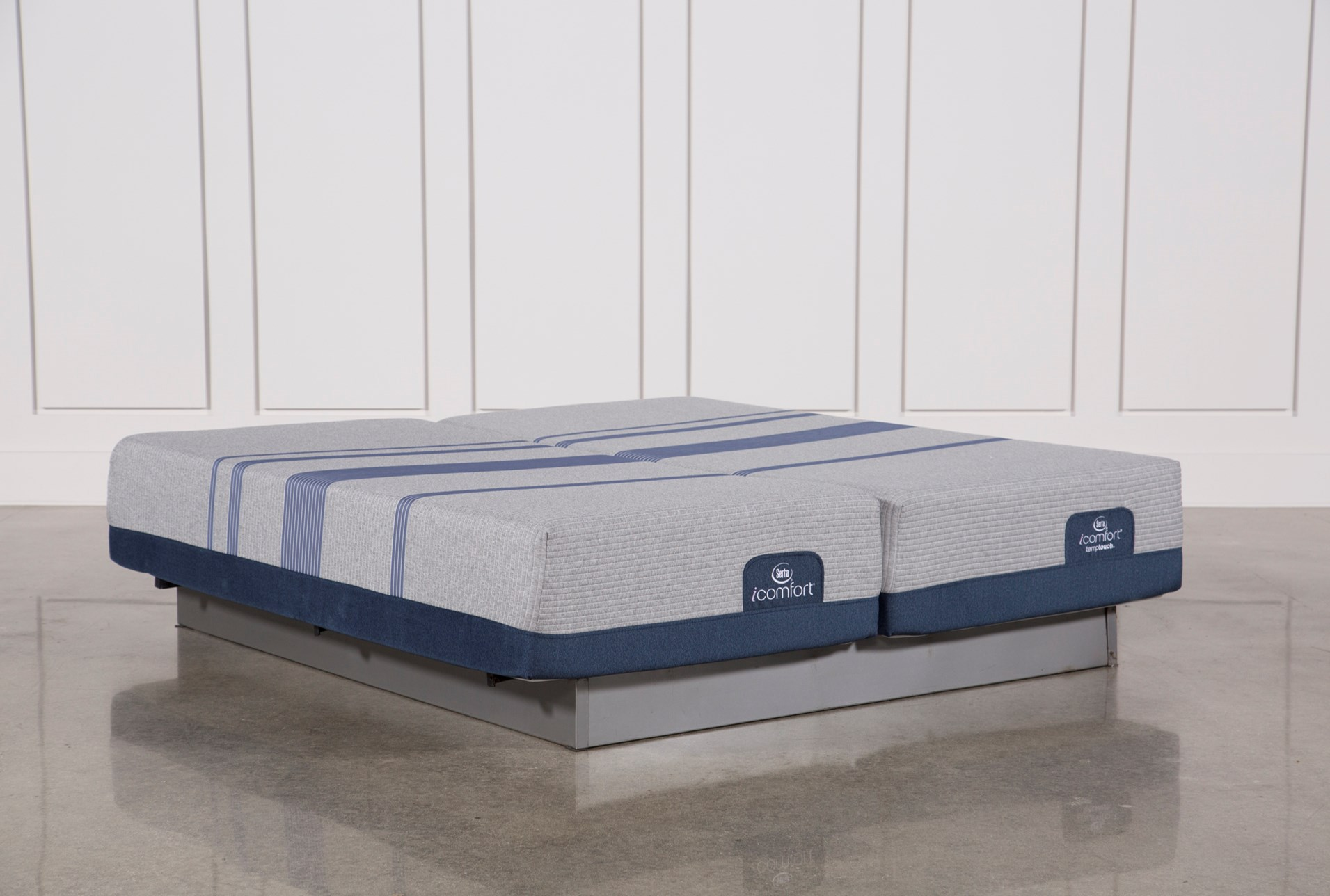 Blue Max 1000 Plush Eastern King Split Mattress Set Living Spaces