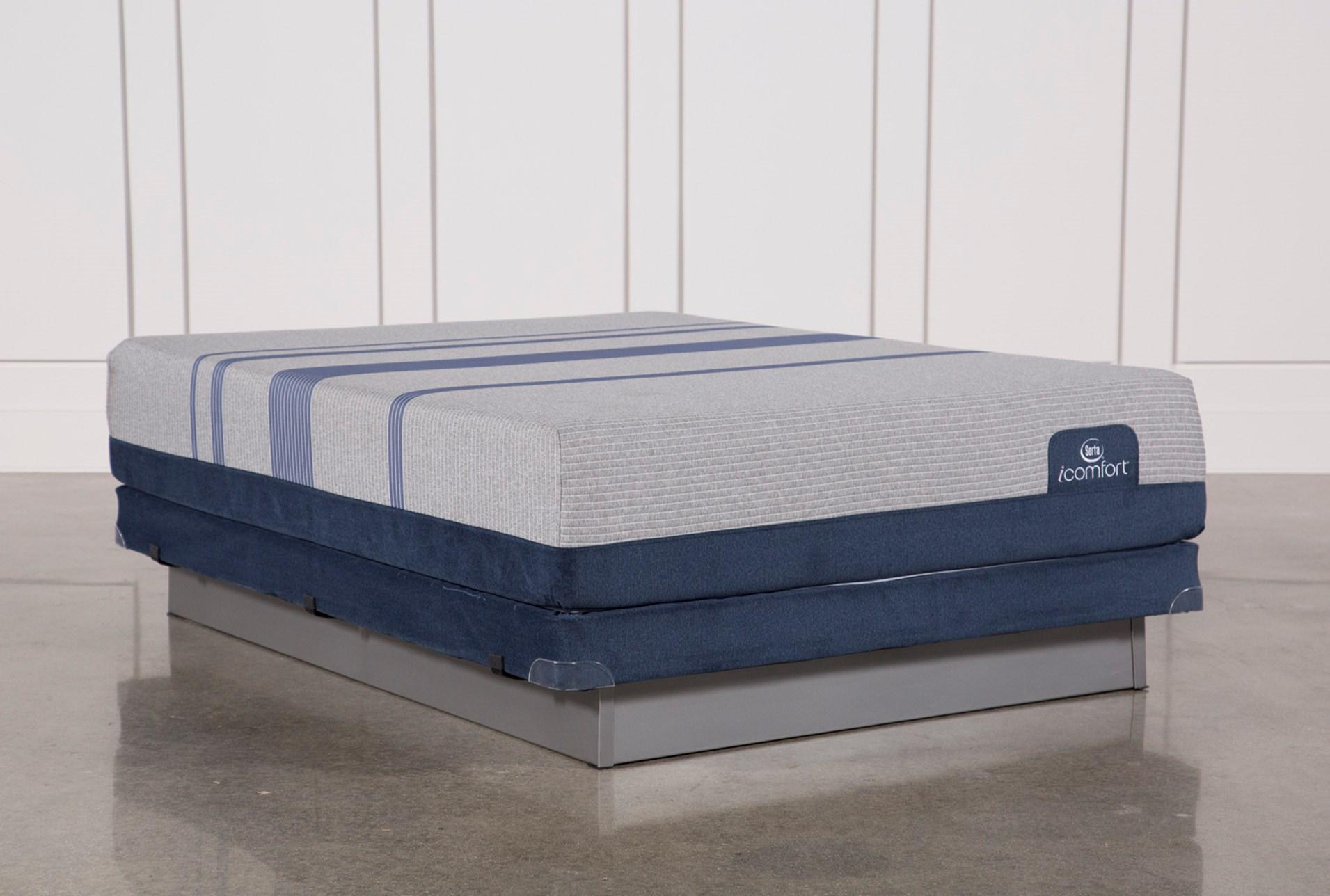 Blue Max 1000 Plush Queen Mattress W Low Profile Foundation Living