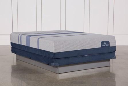 Blue Max 1000 Plush Queen Mattress W/Low Profile Foundation