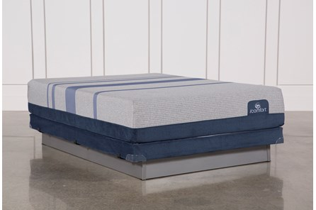 Blue Max 1000 Plush Queen Mattress W/Low Profile Foundation - Main
