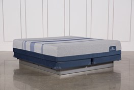 Blue Max 1000 Plush Eastern King Mattress W/Low Profile Foundation