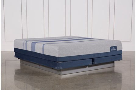 Blue Max 1000 Plush Eastern King Mattress W/Low Profile Foundation - Main
