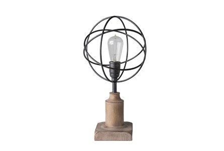 Table Lamp-Industrial Iron Globe