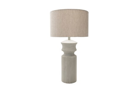 Table Lamp-Concrete Column