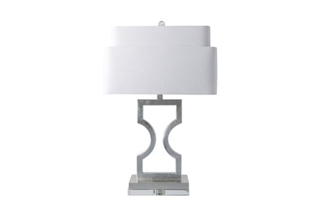 Table Lamp-Tiered Shade Silver