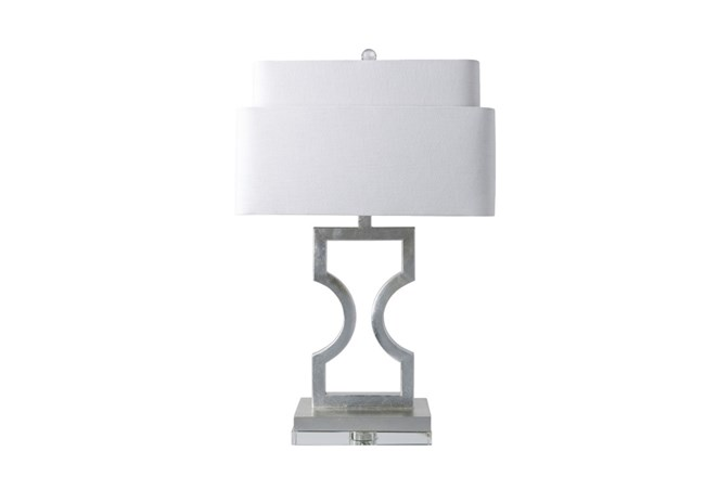 Table Lamp-Tiered Shade Silver - 360