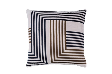 Accent Pillow-Navy Overlap 20X20 - Main