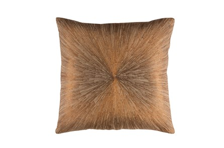 Accent Pillow-Bronze Starburst 20X20