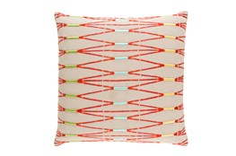Accent Pillow-Beige Multi Zig Zag 22X22