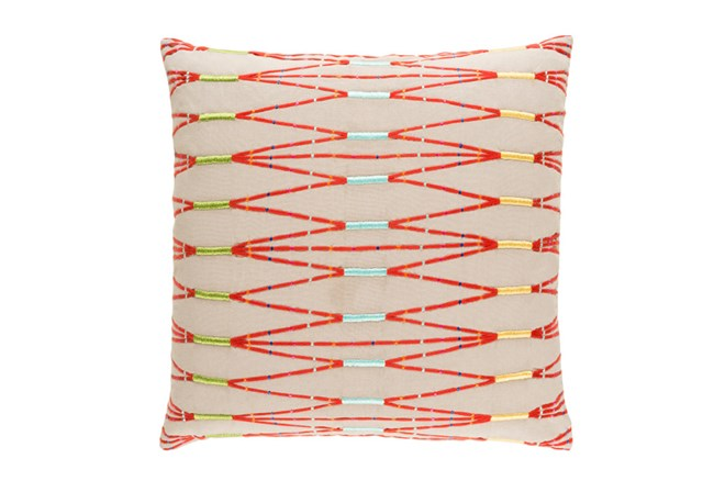 Accent Pillow-Beige Multi Zig Zag 22X22 - 360