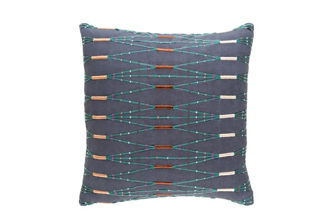 Accent Pillow-Navy Multi Zig Zag 20X20 - 360